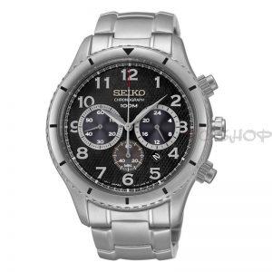 Montre chronographe SEIKO SRW037P1, bracelet acier inoxydable, mouvement Quartz avec date