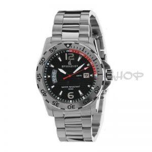 Montre analogique unisexe SPINNAKER SP-5007-11 bracelet et boitier de couleur argent et en acier inoxydable