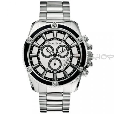 Montre chronographe MARC ECKO M20020G1 mouvement Quartz cadran blanc