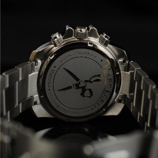 Montre chronographe MARC ECKO M20020G1 mouvement Quartz cadran blanc