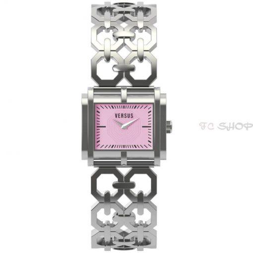 Montre analogique femme VERSUS SGE01 collection Moda mouvement Quartz cadran rose rectangulaire