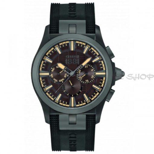 Montre chronographe CERRUTI 1881 CRA076BU12 bracelet silicone noir multifonctions