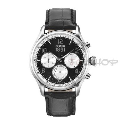 Montre chronographe CERRUTI 1881 CRA107SN02BK Collection Bellagio