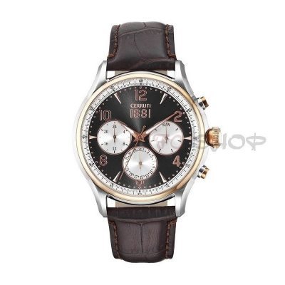 Montre chronographe CERRUTI 1881 CRA107STR13BR Collection Bellagio