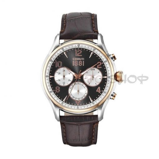 Montre chronographe CERRUTI 1881 CRA107STR13BR Collection Bellagio