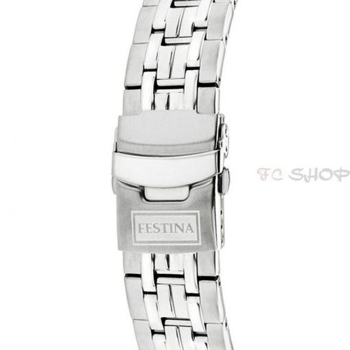 Montre homme FESTINA F16603_1 Sport/Casual chronographe, cadran col. argenté et noir, bracelet acier