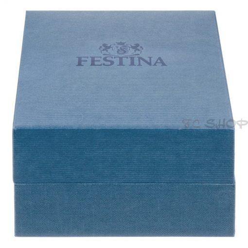 Montre femme FESTINA F16647_1 Elégance cadran blanc, bracelet cuir blanc