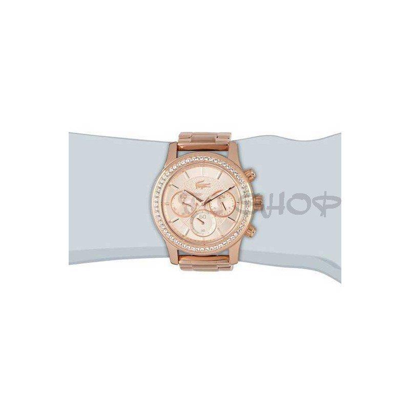 43efc4e5d9 Montre chronographe femme LACOSTE 2000834 acier inoxydable rose