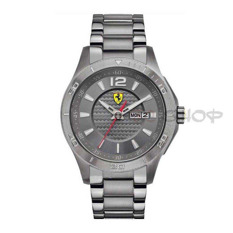 grossiste 694ae cf23b Montre analogique homme SCUDERIA FERRARI 830106 bracelet acier gris    fcshop-montre