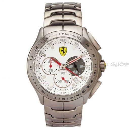 Montre chronographe homme SCUDERIA FERRARI 830082 bracelet acier argent