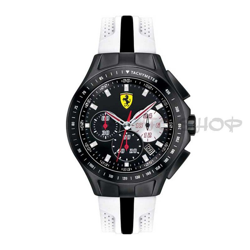montre chronographe homme scuderia ferrari 830026 bracelet bicolore silicone fcshop montre. Black Bedroom Furniture Sets. Home Design Ideas