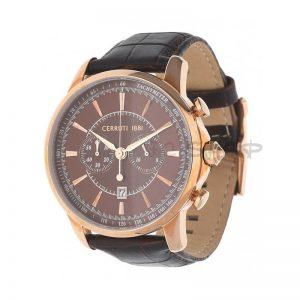 Montre Cerruti homme, brun foncé CRA073C233H, date et chronomètre